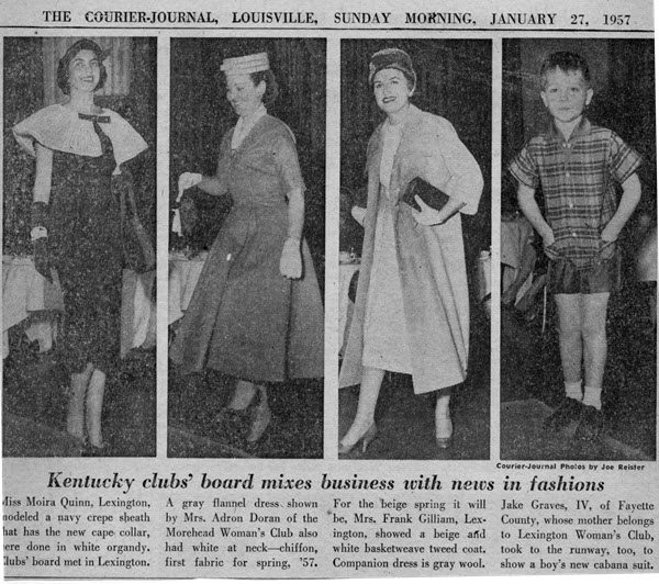 General Federation of Women's Clubs Kentucky Woman's Club Style Show, 1957